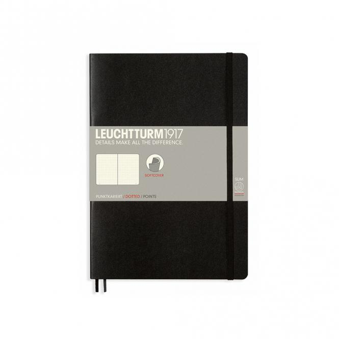 Leuchtturm1917 Notizbuch Softcover black dotted