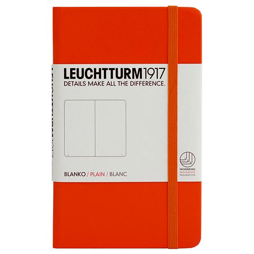 "Leuchtturm1917 Notizbuch ""M"" orange blanko"