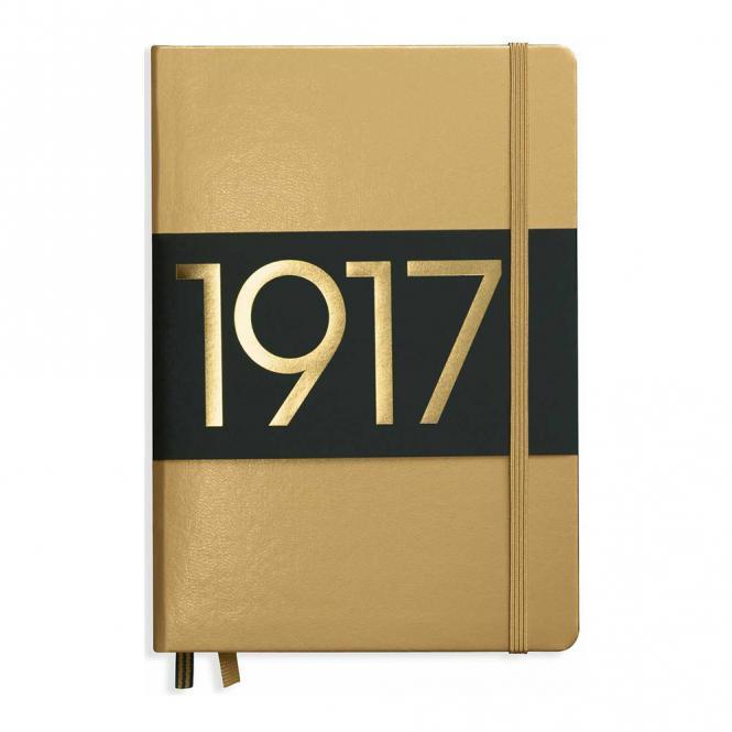 "Leuchtturm1917 Notizbuch ""M"" gold blanko"