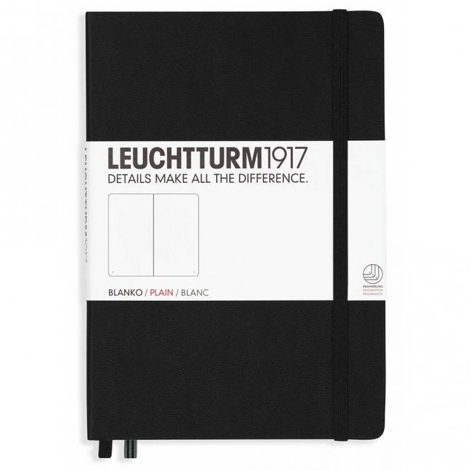 """Leuchtturm1917 Notizbuch """"M"""" schwarz blanko"""