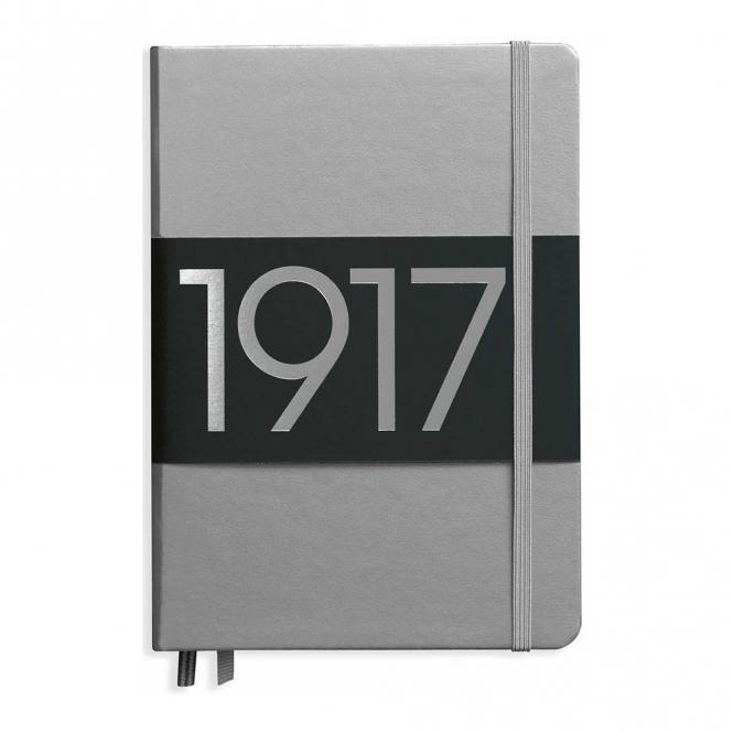 """Leuchtturm1917 Notizbuch """"M"""" silber dotted"""