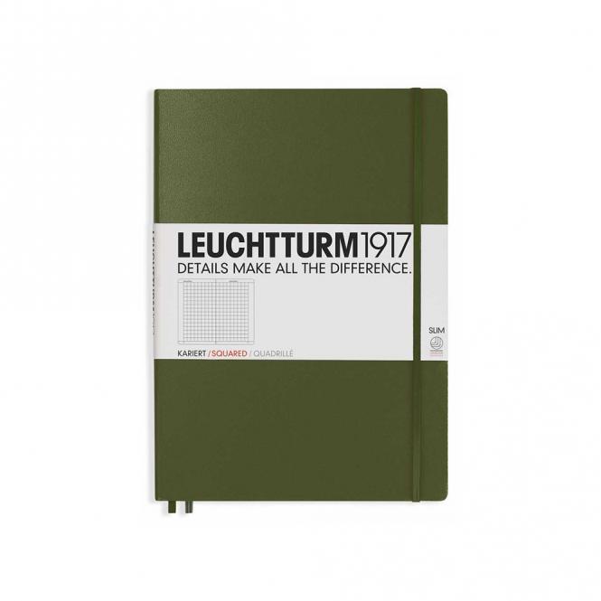 "Leuchtturm1917 Notizbuch ""L"" slim army kariert"