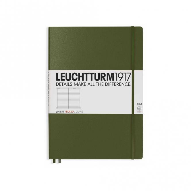 "Leuchtturm1917 Notizbuch ""L"" slim army liniert"