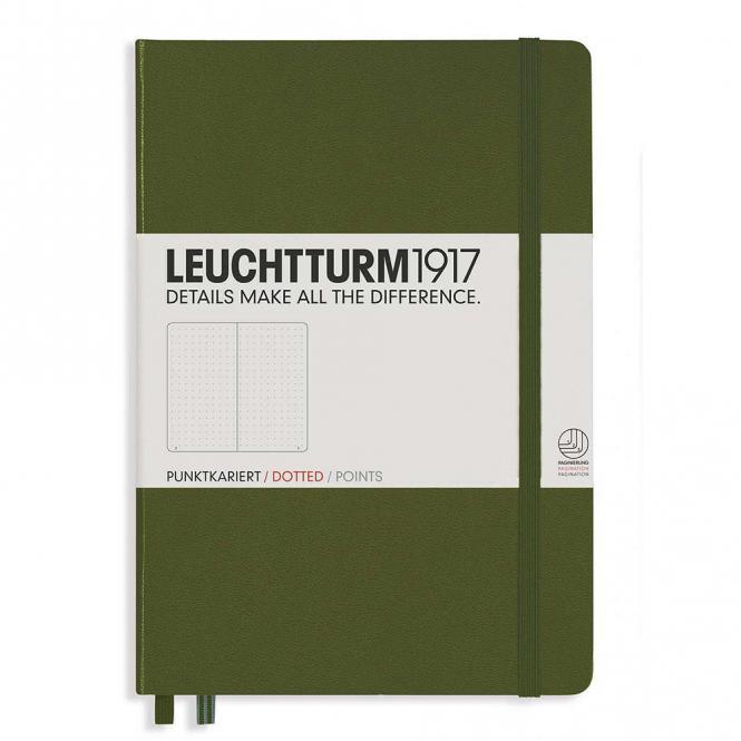"""Leuchtturm1917 Notizbuch """"M"""" army dotted"""