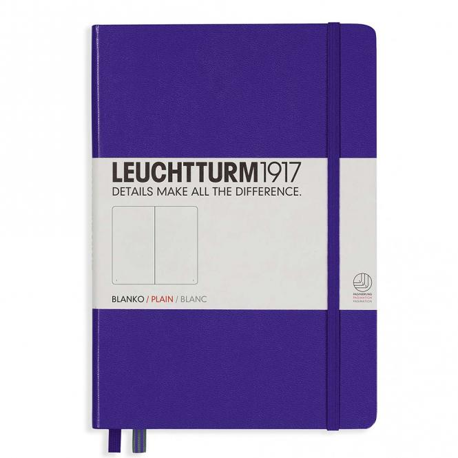 "Leuchtturm1917 Notizbuch ""M"" violett blanko"