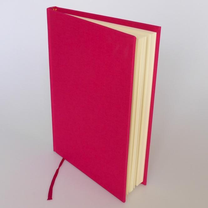 "Semikolon Classic Notizbuch ""M"" Leinen pink"