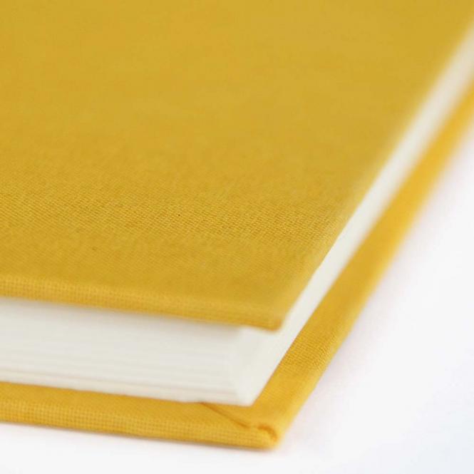"Semikolon Classic Notizbuch ""S"" Leinen gelb"