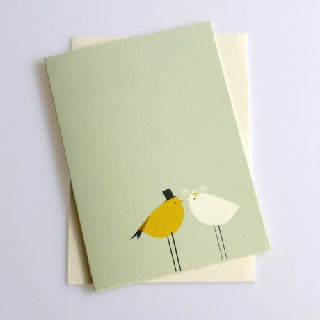 Grußkarte Vogelhochzeit 2