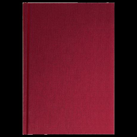 """Semikolon Classic Notizbuch """"M"""" Leinen burgund 2"""