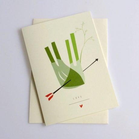 Grußkarte Fenchel 2