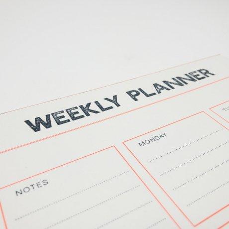 Gmund Letterpress Weekly Planner 2