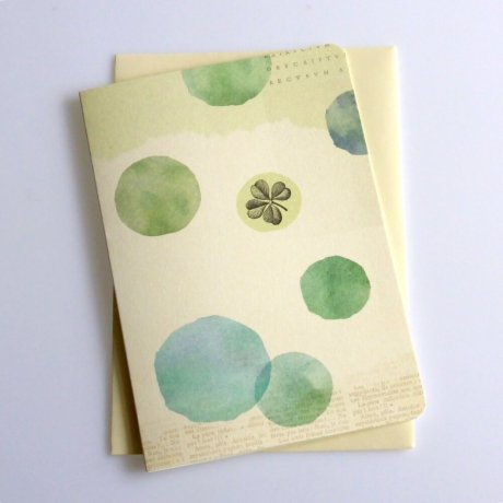 Grußkarte Kleeblatt 2