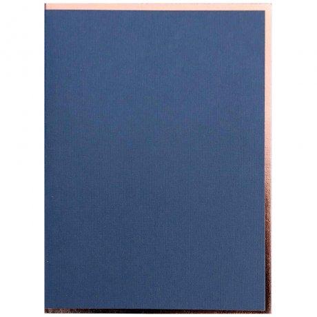 "Semikolon Notizbuch ""M"" Kupferkante nachtblau 2"