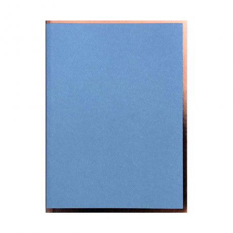 "Semikolon Notizbuch ""S"" Kupferkante hellblau 2"