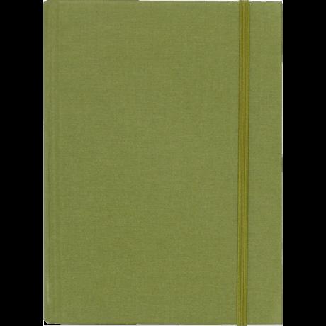 """Semikolon Grand Voyage Notizbuch """"M"""" Leinen dunkelgrün 2"""