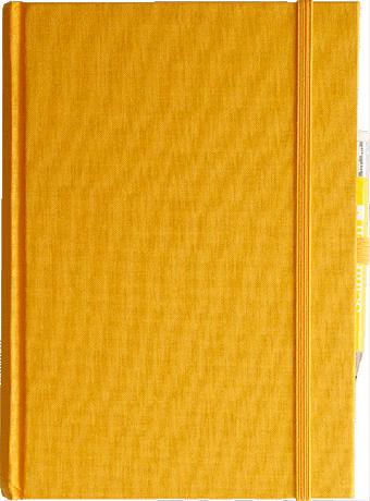 """Semikolon Grand Voyage Notizbuch """"M"""" Leinen gelb 2"""