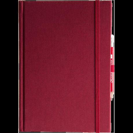 """Semikolon Grand Voyage Notizbuch """"M"""" Leinen dunkelrot 2"""
