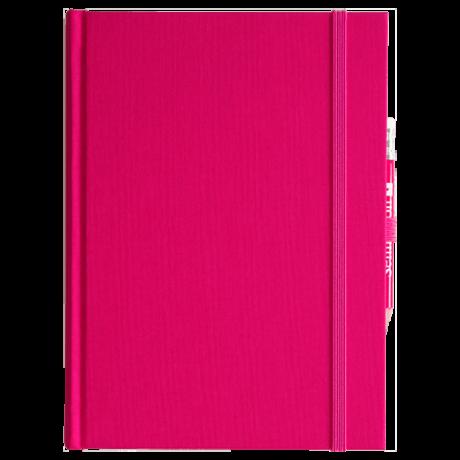 """Semikolon Grand Voyage Notizbuch """"M"""" Leinen pink 2"""