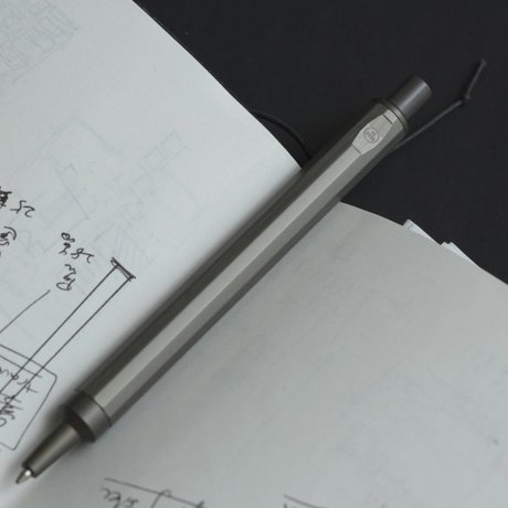 HMM Kugelschreiber | Aluminium dunkelgrau (gunpowder) 2