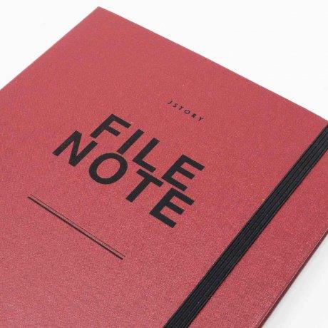 File Note | Notizbuch mit Aufbewahrung von jstory 2
