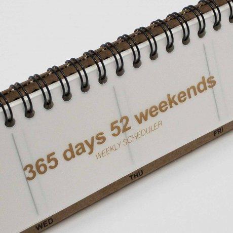 Tischkalender weiß | Kalender mit Ringbindung von jstory 2