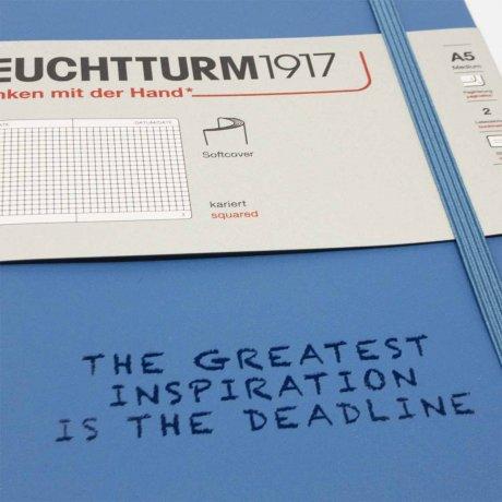 "Leuchtturm1917 Notizbuch Softcover ""M"" denim dotted 2"
