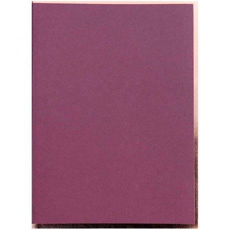 "Semikolon Notizbuch ""S"" Kupferkante burgund 2"