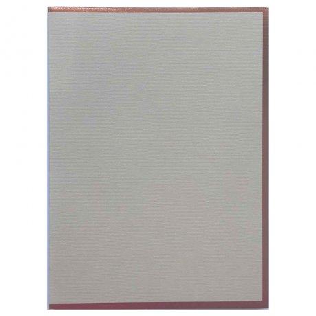 "Semikolon Notizbuch ""M"" Kupferkante grau 2"