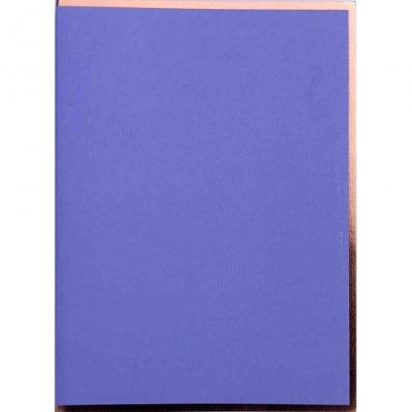 """Semikolon Notizbuch """"M"""" Kupferkante violett 2"""