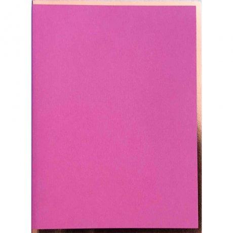 """Semikolon Notizbuch """"S"""" Kupferkante rosa 2"""