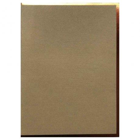 """Semikolon Notizbuch """"M"""" Kupferkante sand 2"""