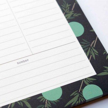 Weekly Planner - Wochenübersicht mit Bambusblättern von Haferkorn & Sauerbrey 2