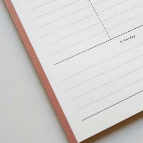 Weekly Planner - Wochenübersicht rosé von Haferkorn & Sauerbrey 2