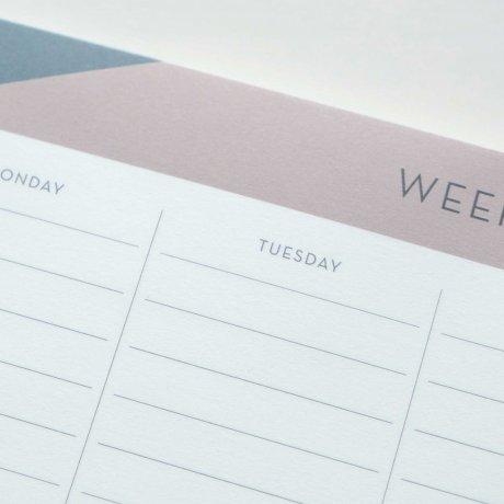 Weekly Planner - Wochenübersicht gemustert von Haferkorn & Sauerbrey 2