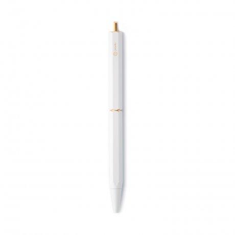 ystudio | tragbarer Kugelschreiber aus Messing weiß 2