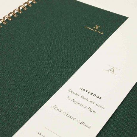 Appointed Notizbuch dunkelgrün kariert 2