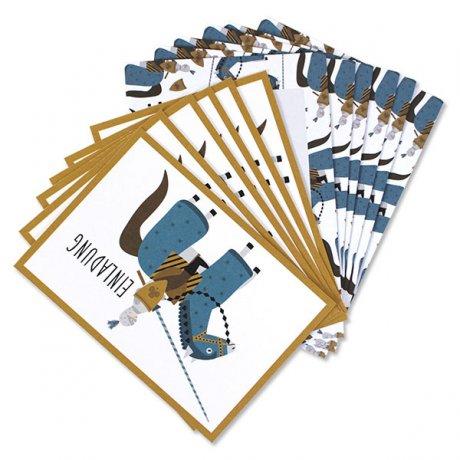 Einladungskarten-Set Ritter 2