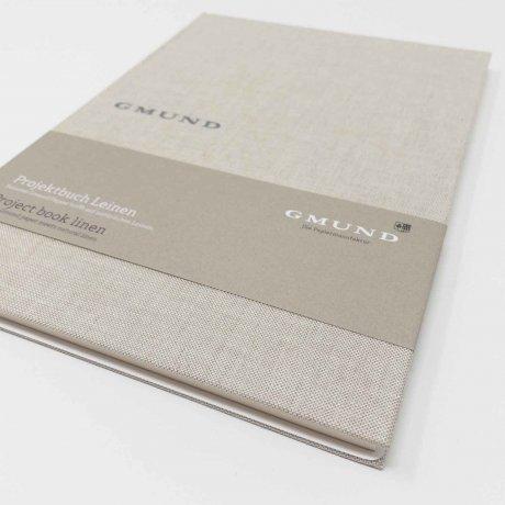 Gmund Projektbuch Leinen pure A5 (midi) 2