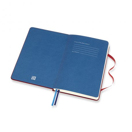 MOLESKINE® Two-Go Notizbuch Leineneinband rot 2