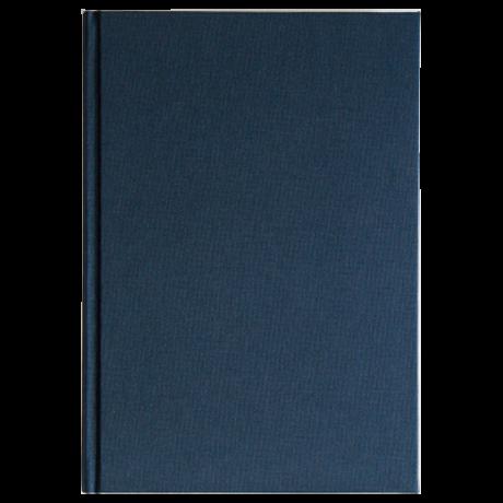 "Semikolon Classic Notizbuch ""S"" Leinen dunkelblau 2"