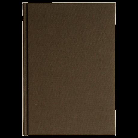 "Semikolon Classic Notizbuch ""M"" Leinen dunkelbraun 2"
