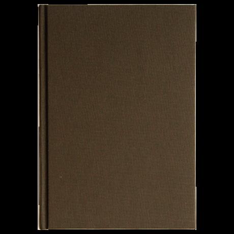 "Semikolon Classic Notizbuch ""S"" Leinen dunkelbraun 2"
