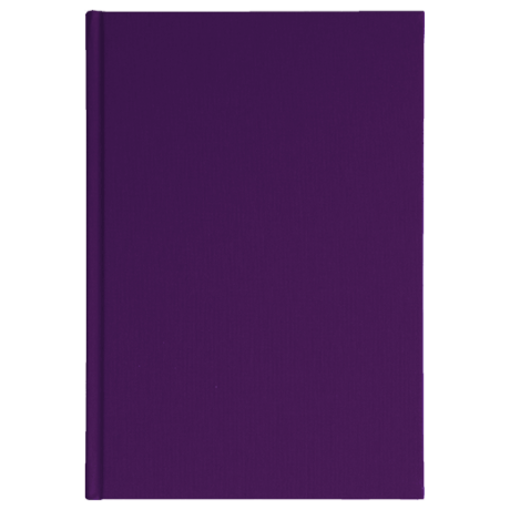 "Semikolon Classic Notizbuch ""M"" Leinen lila 2"