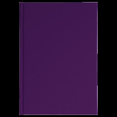 "Semikolon Classic Notizbuch ""S"" Leinen lila 2"