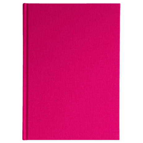 "Semikolon Classic Notizbuch ""S"" Leinen pink 2"