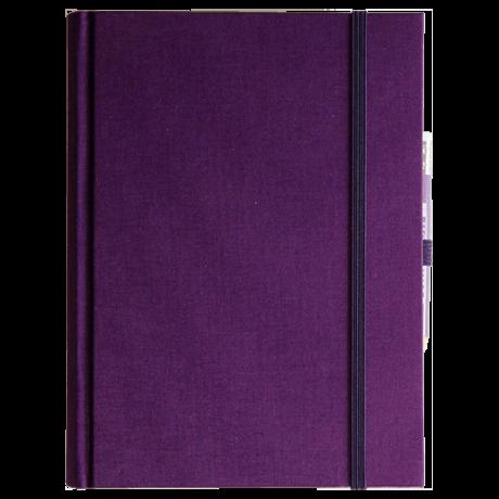 "Semikolon Grand Voyage Notizbuch ""M"" Leinen lila 2"