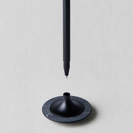 meinnotizbuch vertical kugelschreiber stone schwarz online kaufen. Black Bedroom Furniture Sets. Home Design Ideas