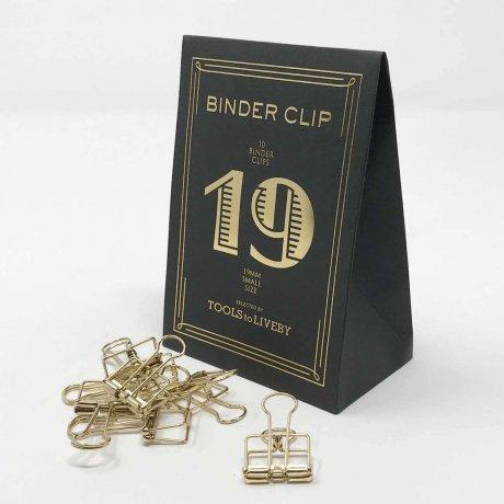 Binder Clips klein gold 2