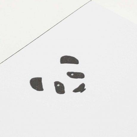Kleiner Notizblock mit geprägtem Panda | Von Le Typographe 2