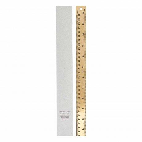 Lineal aus Messing groß von Monograph | 30 Zentimeter Länge 2